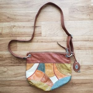 Fossil Vintage Patchwork Leather Crossbody